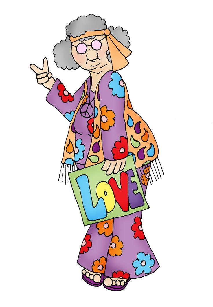 736x1063 Hippie Grandparents Day Clipart