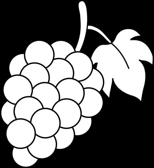 Grape Clipart Black And White