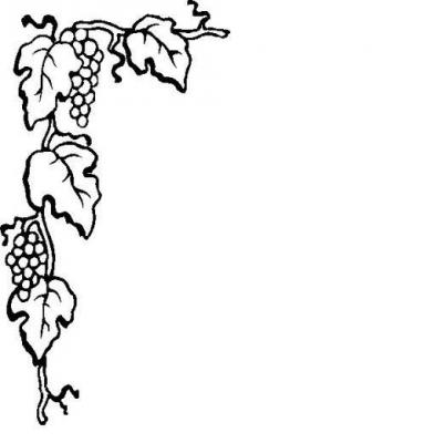 384x400 Grape Leaf Border Clipart
