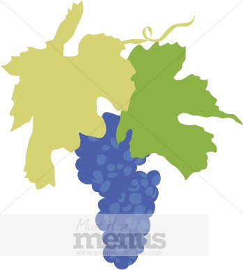 349x388 Grape Leaves Clipart