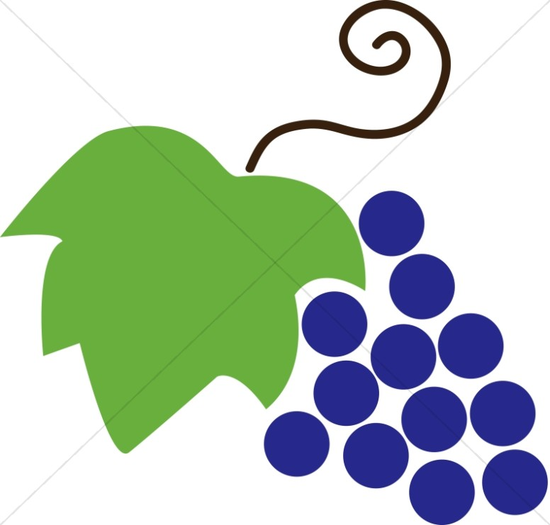 776x741 Grapes And Leaf Communion Clipart