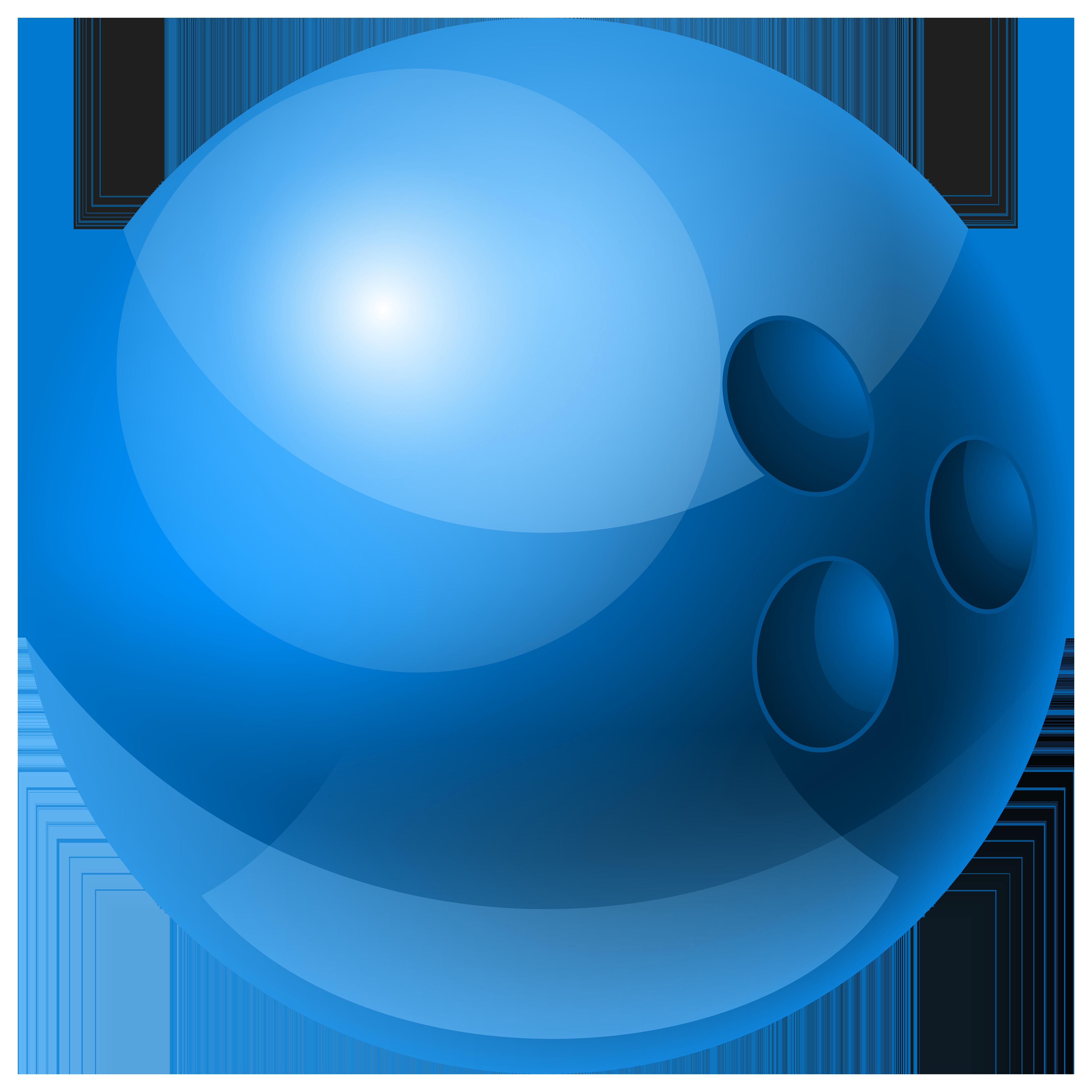 4000x4000 Blue Bowling Ball Png Clipart