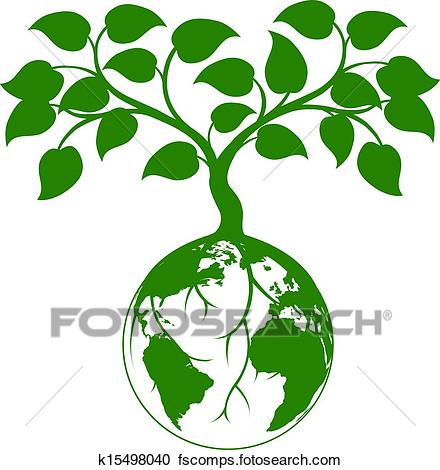 440x470 Clipart Of Earth Tree Graphic K15498040