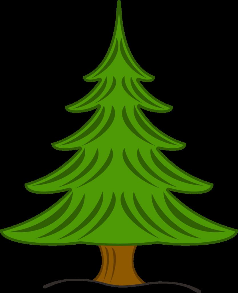 834x1024 Pine Tree Clipart Graphic