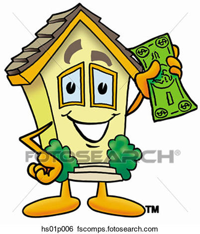 402x470 Clip Art Of House With Money Hs01p006
