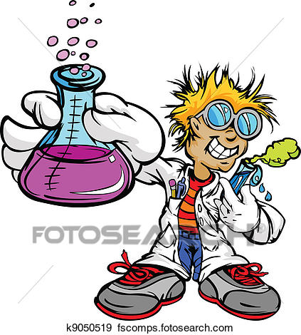 423x470 Clip Art Of Kid Scientist Inventor Boy K9050519