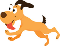 210x160 Dog The End Clipart