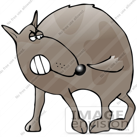 450x450 Clip Art Graphic Of A Frustrated Dog Trying To Catch His Own Tail