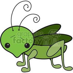 300x300 Royalty Free Cartoon Grasshopper 387271 Vector Clip Art Image
