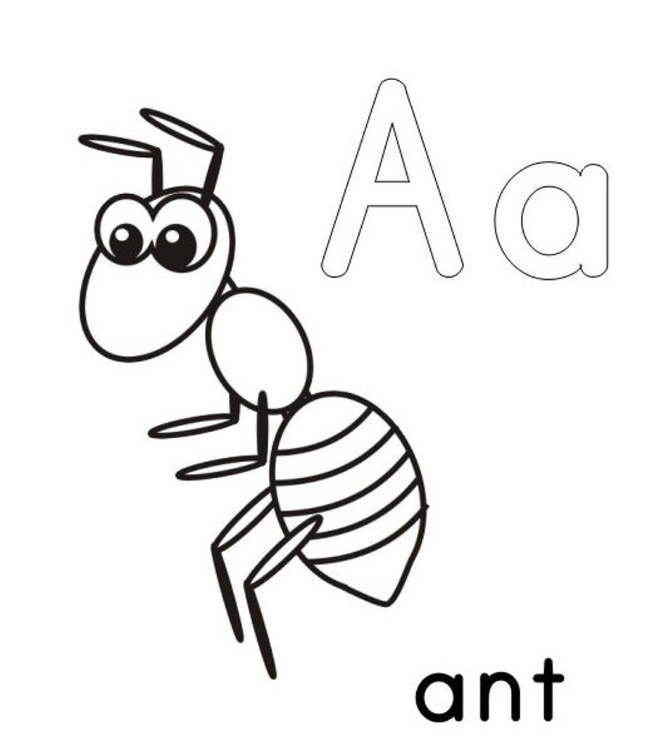 926x1045 A For Ant Alphabet Coloring Pages Printable Alphabet Coloring