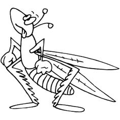 236x236 Free Grasshopper Coloring Pages For Preschool Grasshopper
