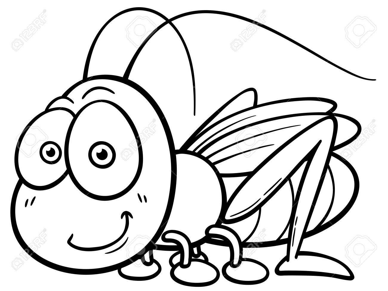 1300x975 Grasshopper Clipart Black White. Grasshopper Clipart Black