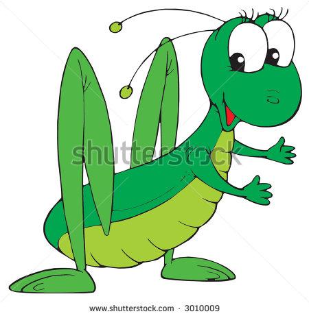 450x461 Grasshopper Cartoon Characters Grasshopper Stock Vector 3010009