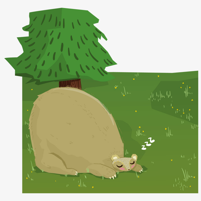 650x651 Vector Cartoon Forest Material, Forest, Grassland, Grassland