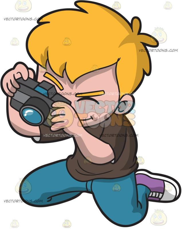 636x800 A Boy Intensely Takes A Number Of Photographs At Spooky Graveyard