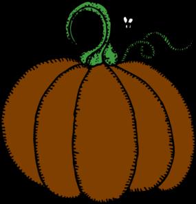 285x297 Brown Clipart Pumpkin