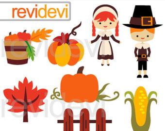 340x270 Pilgrims And Indians Digital Clip Art Thanksgiving Clip Art.