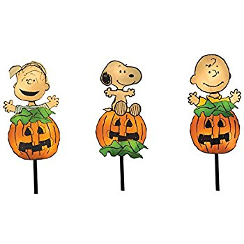 350x350 Productworks 8 Inch Pre Lit Peanuts Great Pumpkin Gang