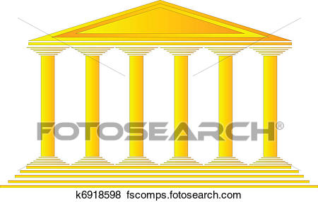 450x286 Clip Art Of Greek Temple K6918598