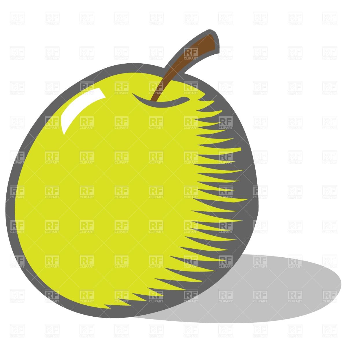 1200x1200 Cartoon Green Apple Royalty Free Vector Clip Art Image