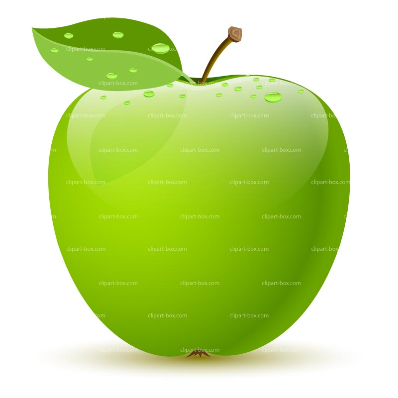 800x800 Green Apple Clip Art