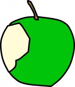259x300 Green Apple Clip Art Download