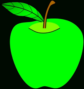 285x300 Green Apple Clipart Letters Example