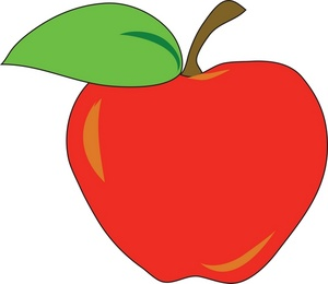 300x260 Green Apple Clipart Free Images