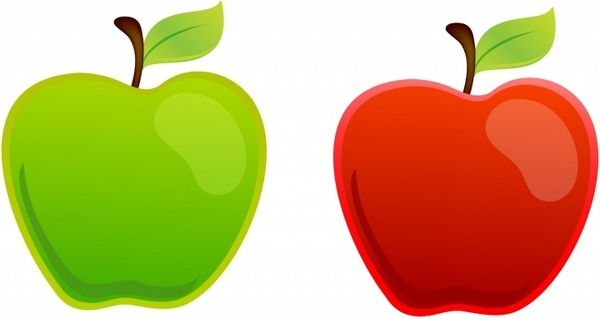 600x319 Green Clipart Red Apple