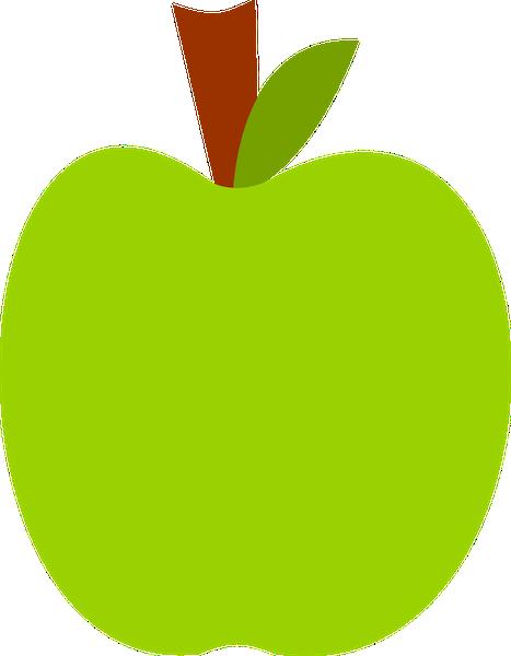 467x600 Green Apple Clip Art Clipart Vector