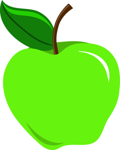 240x300 Green Apple Clipart Free Picture
