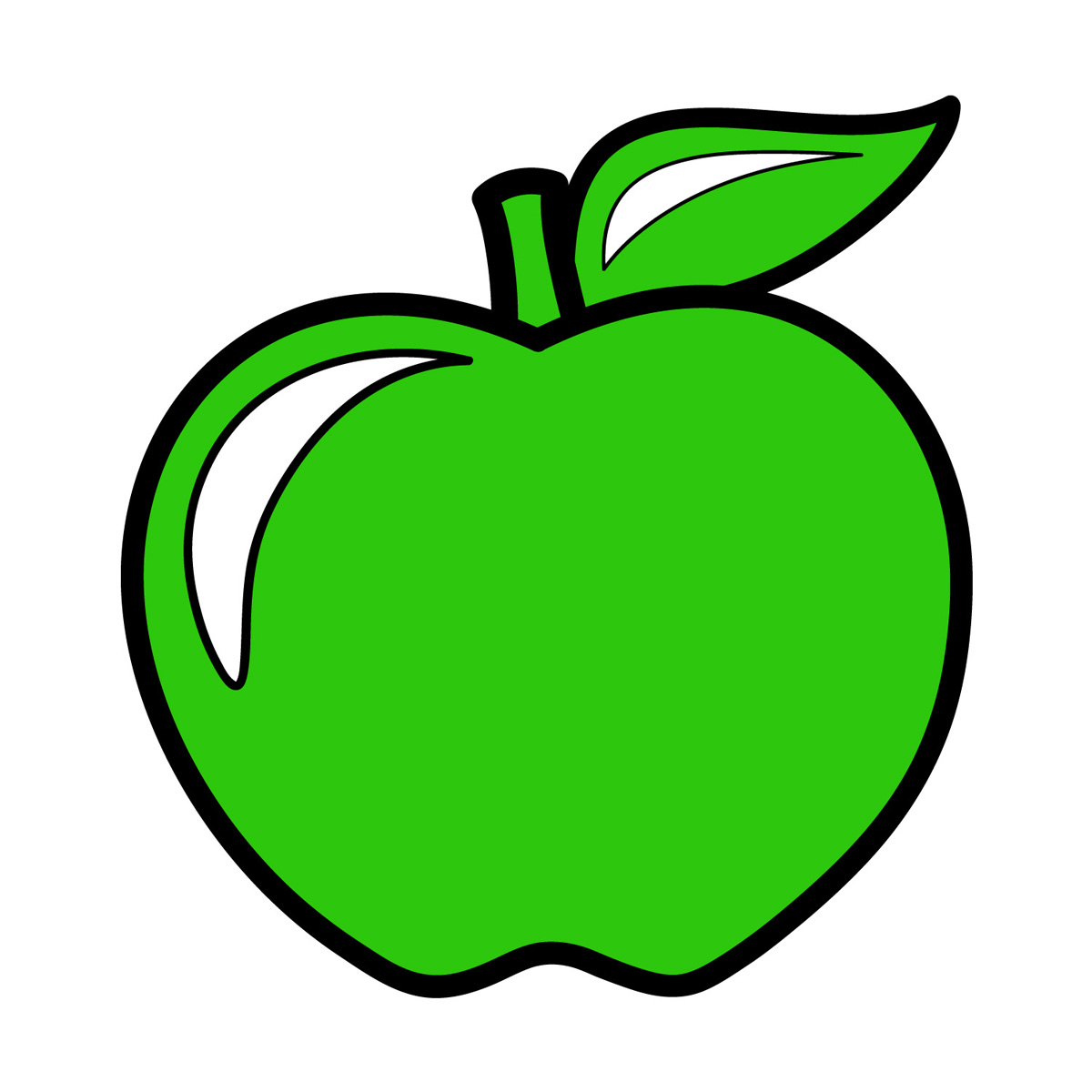 1200x1200 Apple Clipart Colorful