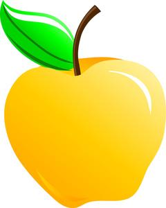 240x300 Apple Clipart Big Yellow