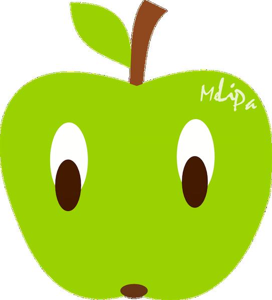 543x600 Apple Clipart Kawaii