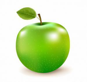 300x282 Green Apple Clip Art Download