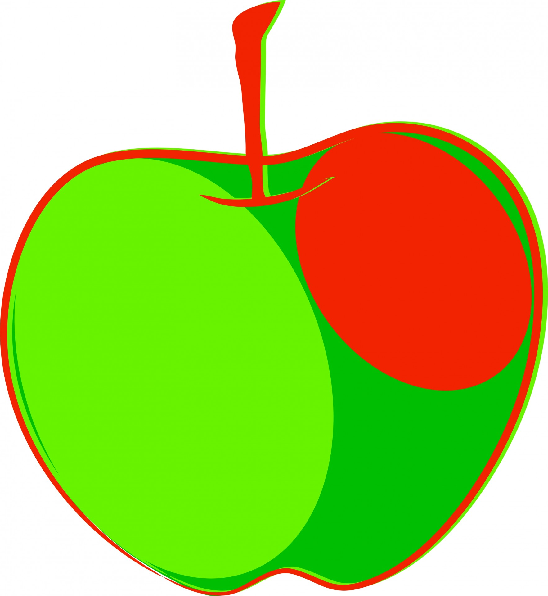 1766x1920 Green Amp Red Apple Clipart Free Stock Photo