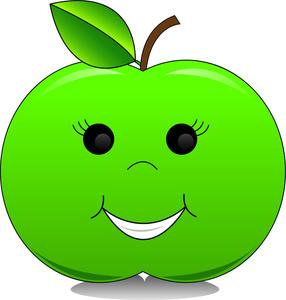 286x300 Apple Clipart Smile