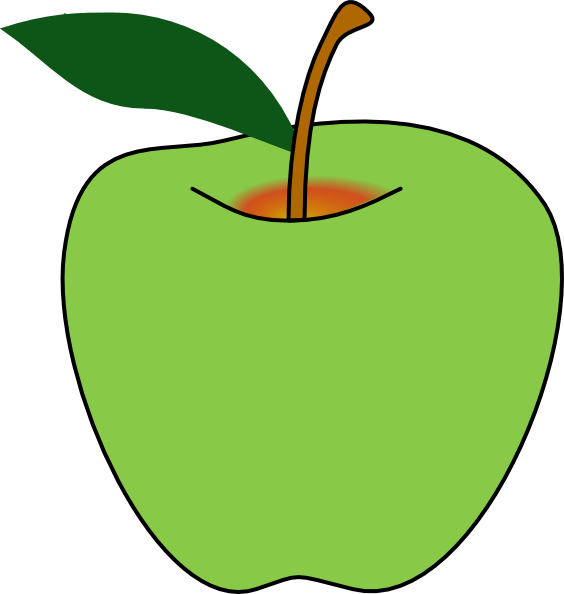 564x594 Bitten Green Apple Clipart Free Images