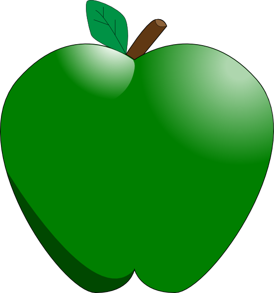 558x597 Green Apple Clip Art