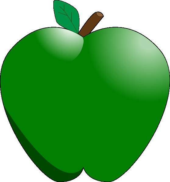558x597 Green Apple Clip Art