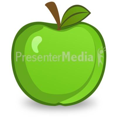 400x400 Green Apple Illustration