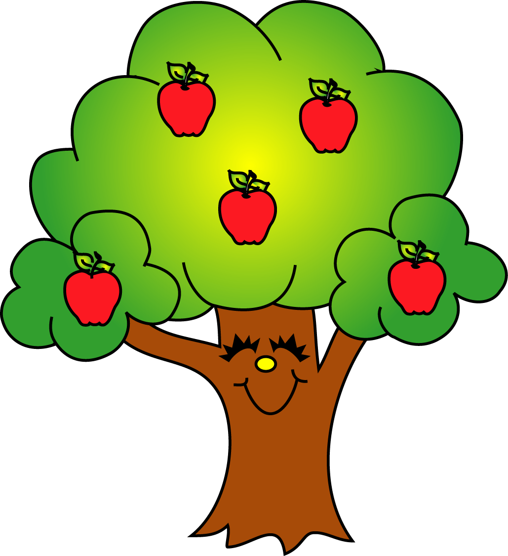 1029x1125 Green Apple Tree Clipart