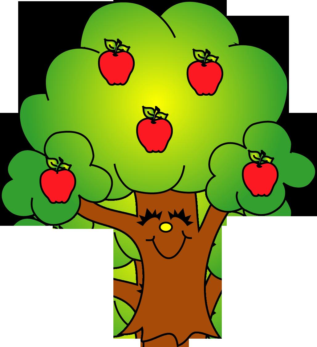 1029x1125 Green Apple Tree Clipart