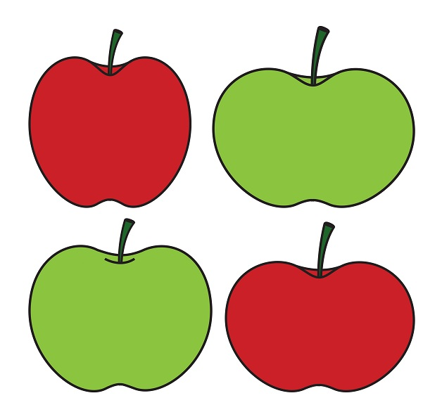 628x576 Green Apple Vs Red Apple