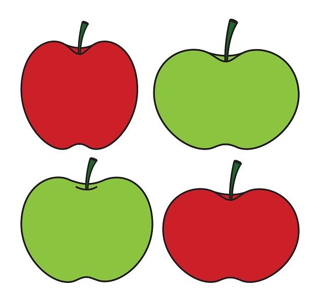 628x576 Green Apple Vs Red Apple