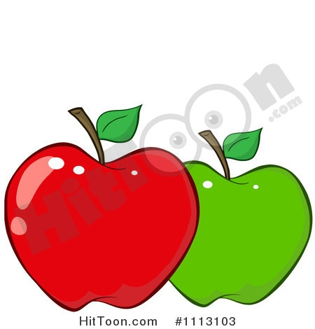 450x470 Yellow Red Green Apple's Clip Art Cliparts