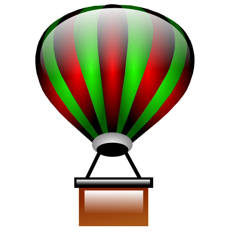 800x800 Free Red Amp Green Hot Air Balloon Clip Art