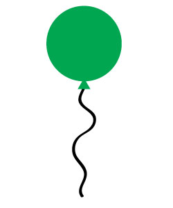 250x300 Free Green Balloon Clipart Scan N Cut Free