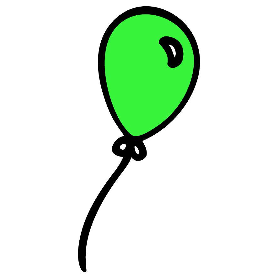 886x886 Green Balloon Masomenos