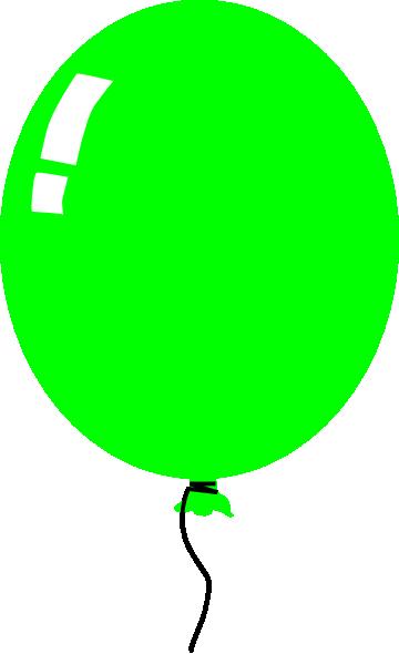 360x590 Green Balloon Clip Art